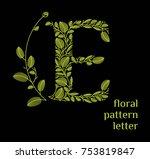 e letter eco logo isolated on... | Shutterstock .eps vector #753819847