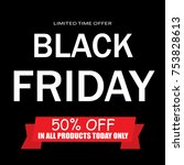 black friday sale | Shutterstock .eps vector #753828613