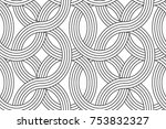 geometric seamless pattern with ... | Shutterstock .eps vector #753832327