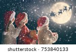 merry christmas and happy... | Shutterstock . vector #753840133