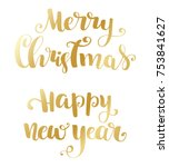 holiday typography. handwriting ...   Shutterstock .eps vector #753841627