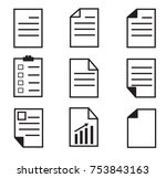 paper icon on white background. ...