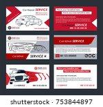 set of automotive service... | Shutterstock .eps vector #753844897