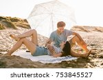 summer  holidays  vacation and... | Shutterstock . vector #753845527