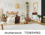 spacious interior of a scandi... | Shutterstock . vector #753854983