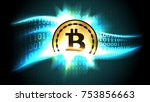 symbol of cryptocurrency... | Shutterstock .eps vector #753856663