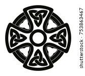 celtic cross. national ornament.... | Shutterstock .eps vector #753863467