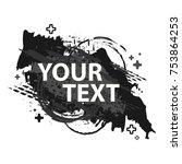 grunge splash banner. vector...   Shutterstock .eps vector #753864253