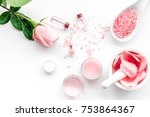 make cosmetics with rose  oil.... | Shutterstock . vector #753864367