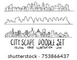 doodle of cityscape hand draw... | Shutterstock .eps vector #753866437