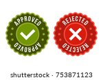 approved and rejected label... | Shutterstock .eps vector #753871123