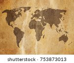old map background | Shutterstock . vector #753873013