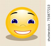 smiley yellow  merry | Shutterstock . vector #753877213