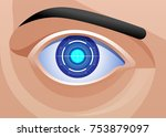mechanic eye implant... | Shutterstock .eps vector #753879097