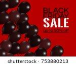 black friday sale inscription... | Shutterstock .eps vector #753880213