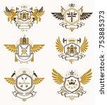 vintage heraldry design... | Shutterstock .eps vector #753885373