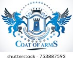 vintage heraldry design... | Shutterstock .eps vector #753887593