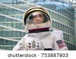 portrait of an astronaut just... | Shutterstock . vector #753887803