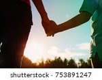 silhouette of parent and child... | Shutterstock . vector #753891247