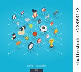sport integrated 3d web icons.... | Shutterstock .eps vector #753893173