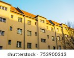 big apartment house in... | Shutterstock . vector #753900313