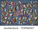 colorful vector hand drawn... | Shutterstock .eps vector #753906967