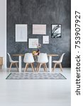 black and white carpet in... | Shutterstock . vector #753907927
