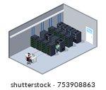 isometric 3d vector... | Shutterstock .eps vector #753908863
