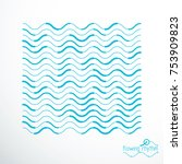 flowing stripes  vector... | Shutterstock .eps vector #753909823