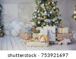 christmas decorations and... | Shutterstock . vector #753921697