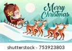 christmas card design template... | Shutterstock .eps vector #753923803
