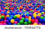 Colored Plastic Balls In Pool...