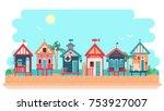 Beach Bungalow Hotel. Summer...