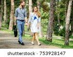 beautiful couple bonding by...   Shutterstock . vector #753928147