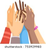 illustration of hands going for ... | Shutterstock .eps vector #753929983