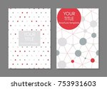 collection of creative covers.... | Shutterstock .eps vector #753931603