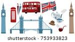 vector flat united kingdom ... | Shutterstock .eps vector #753933823