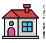 family house personalized diy   Shutterstock .eps vector #753937297
