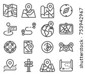 map icons and location icons... | Shutterstock .eps vector #753942967
