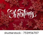 christmas background with... | Shutterstock .eps vector #753956707