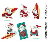 cartoon santa claus  summer...