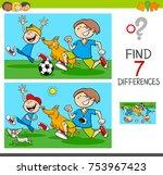 cartoon illustration of finding ... | Shutterstock . vector #753967423