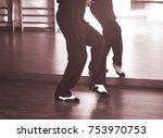 Ballroom Dance Male Dancer And...