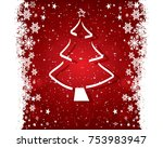 abstract christmas background... | Shutterstock .eps vector #753983947