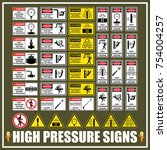 set of signs and symbols of... | Shutterstock .eps vector #754004257