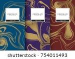 chocolate bar packaging set.... | Shutterstock .eps vector #754011493