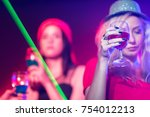 cheers let's drinking together... | Shutterstock . vector #754012213