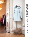 wool and knitwear clothing store | Shutterstock . vector #754056187