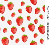 Seamless background with strawberries - stock vector