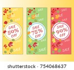 sale voucher coupon banner... | Shutterstock .eps vector #754068637